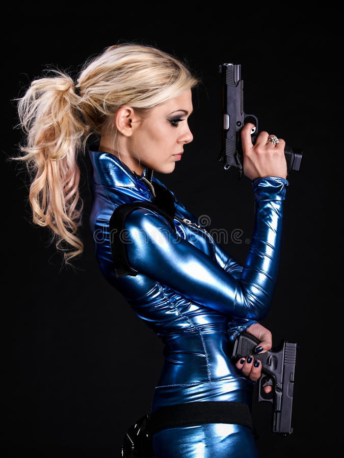 Menina do soldado imagem de stock