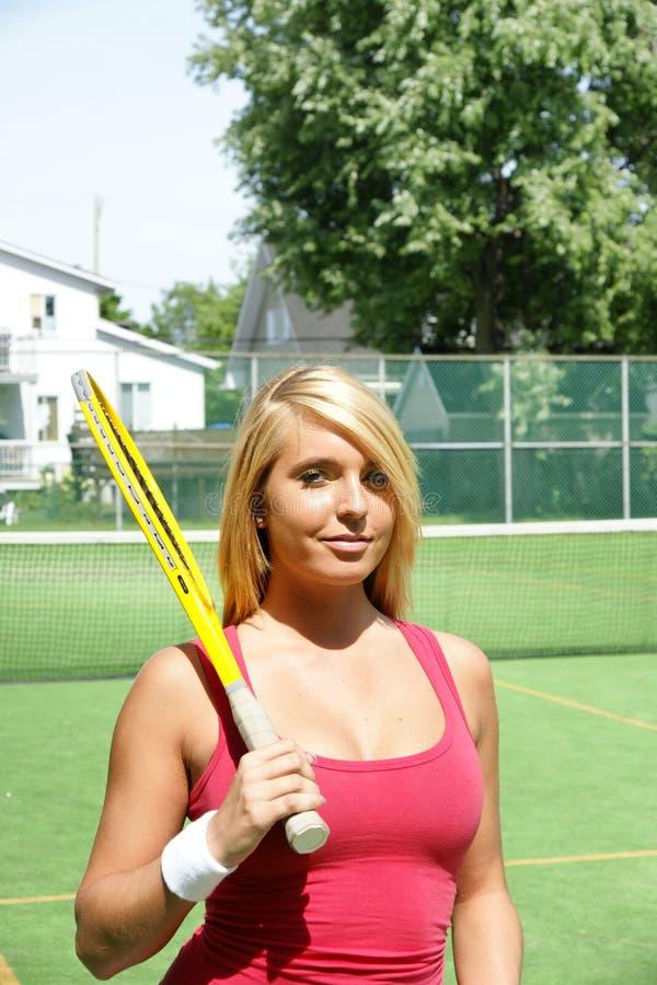 Menina do tênis imagem de stock