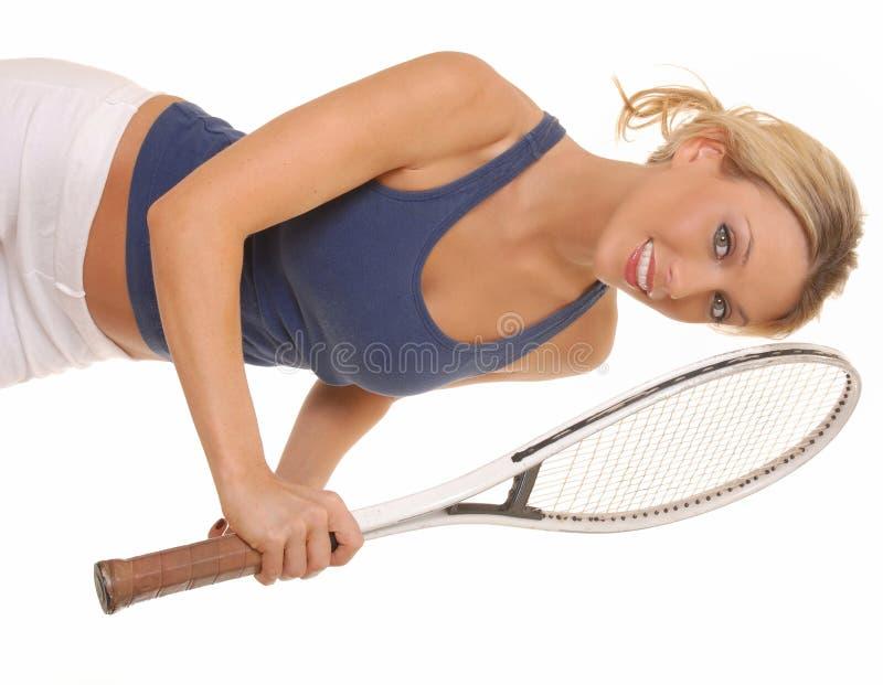 Menina do tênis fotos de stock