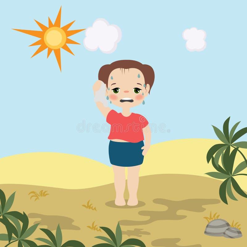 Menina do tempo quente ilustração stock