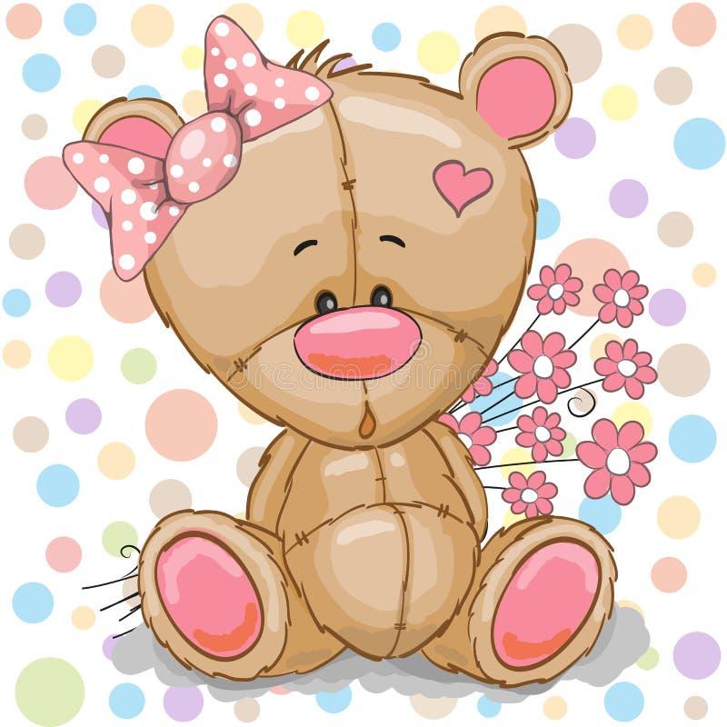 Menina do urso da peluche ilustração stock