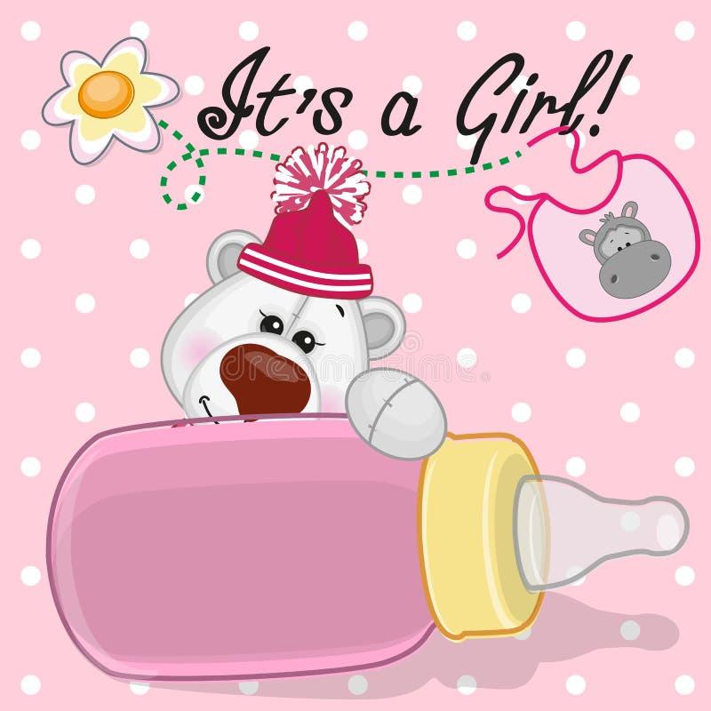Menina do urso polar ilustração stock