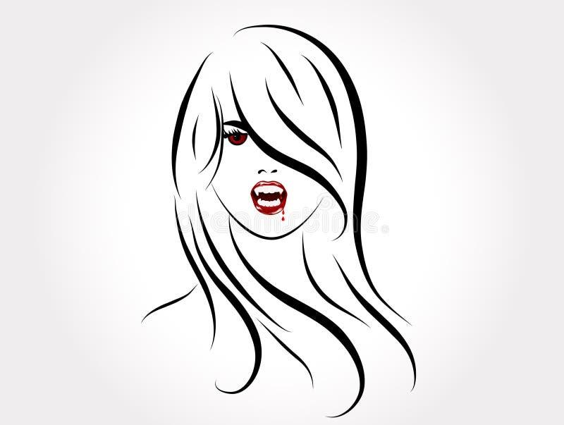 Menina do vampiro ilustração stock