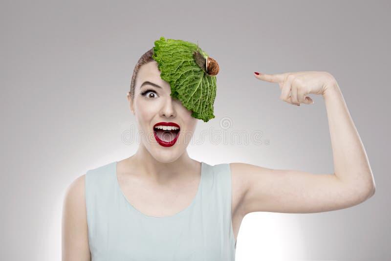 Menina do vegetariano fotografia de stock