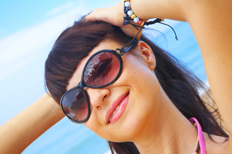 Menina do verão fotografia de stock
