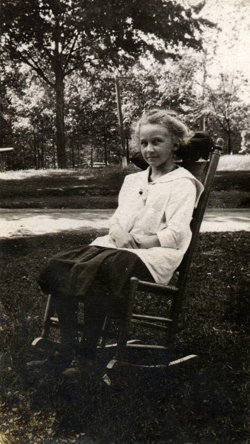 Menina do vintage foto de stock royalty free