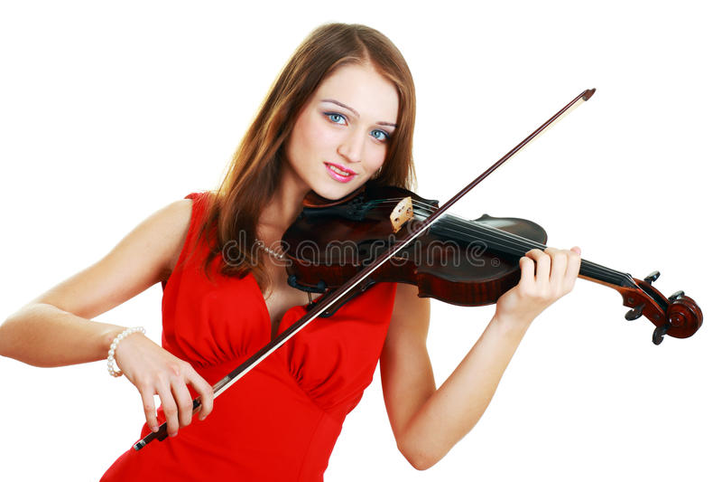 Menina do violinista imagem de stock