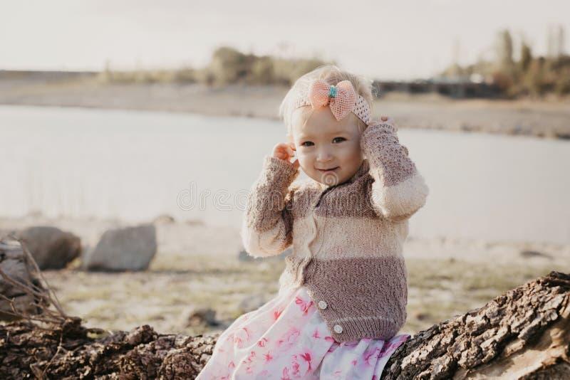 Menina doce ao ar livre imagens de stock royalty free