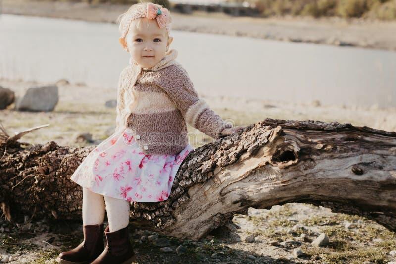 Menina doce ao ar livre foto de stock