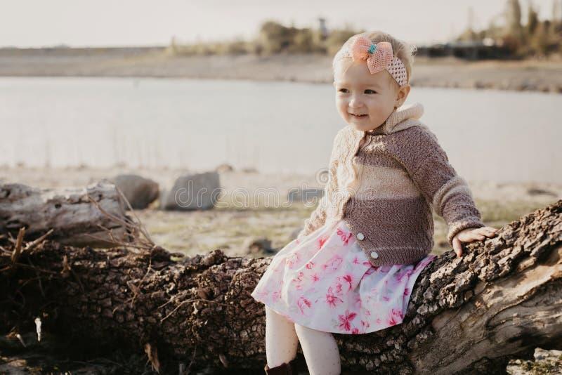 Menina doce ao ar livre fotografia de stock royalty free