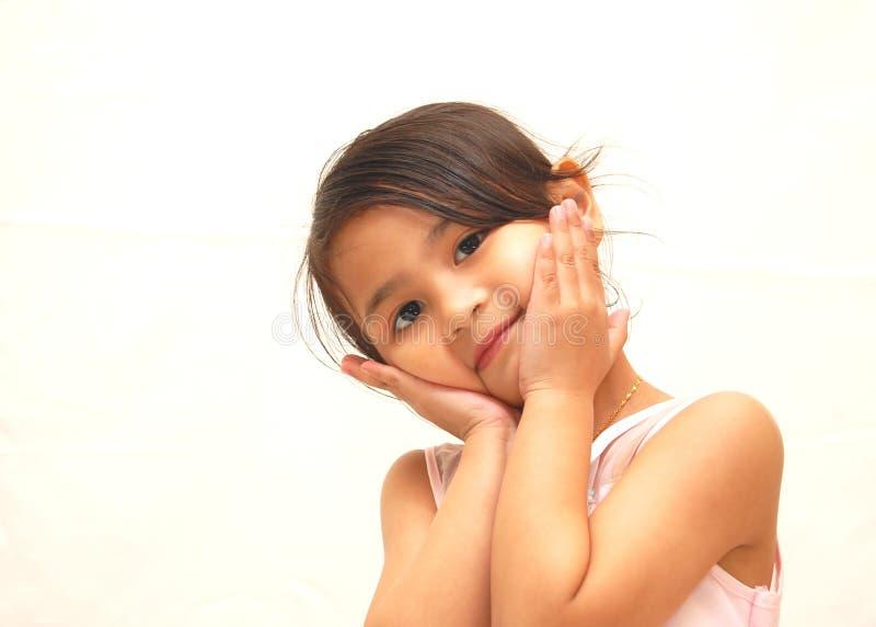 Menina doce feliz fotos de stock