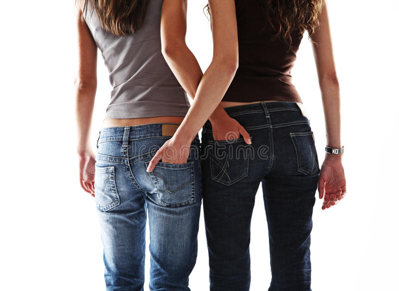 Menina dois 'sexy' imagens de stock