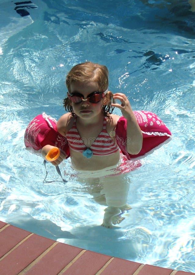 Menina dos óculos de proteção imagem de stock royalty free