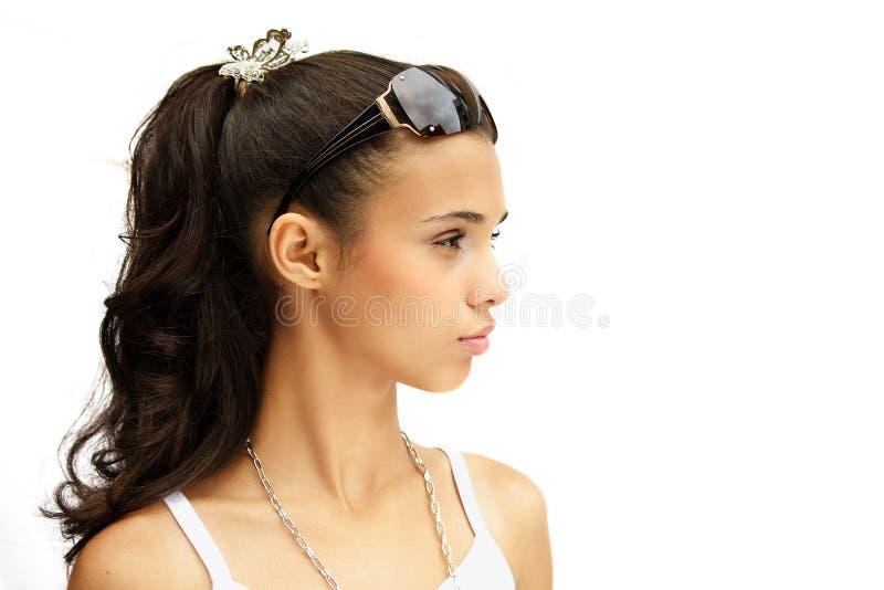 Menina dos óculos de sol imagem de stock