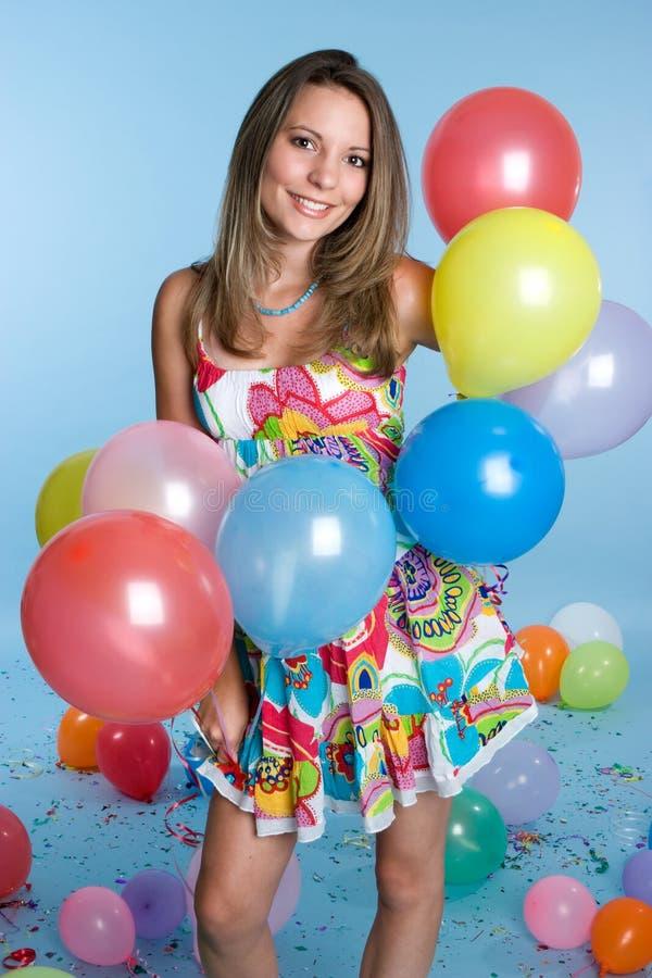 Menina dos balões imagem de stock