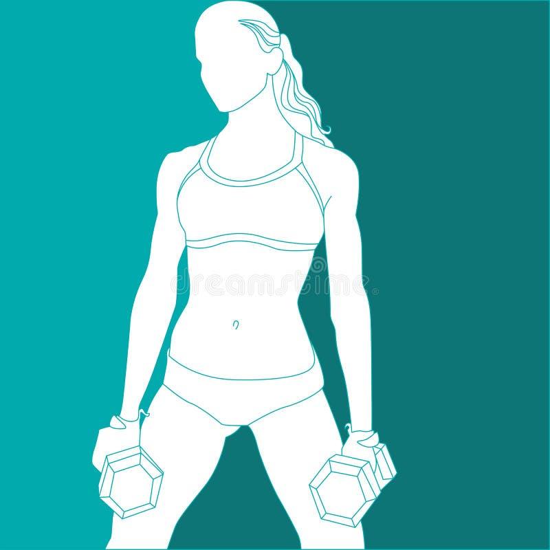 Menina dos esportes ilustração do vetor