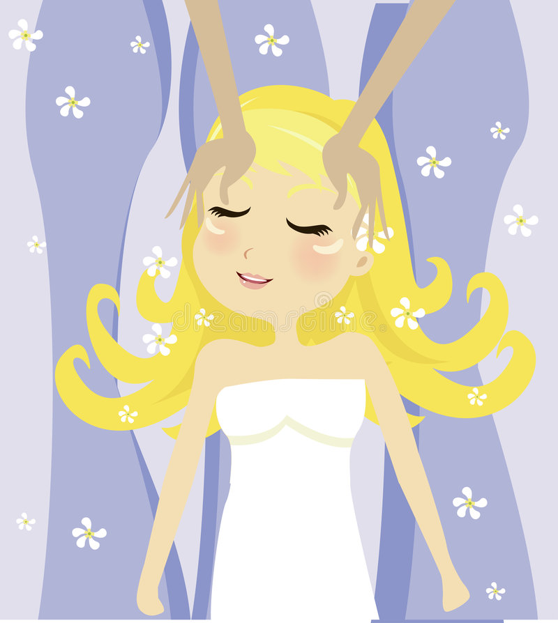 Menina dos TERMAS ilustração royalty free