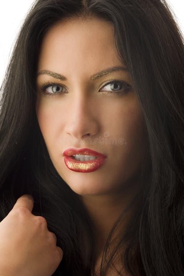 A menina dourada compo foto de stock royalty free