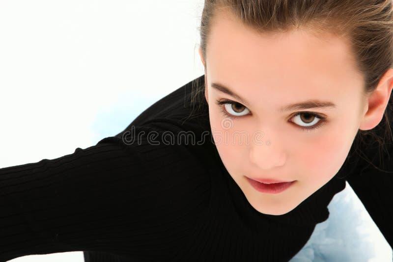 Menina dramática do Tween de Headshot imagem de stock