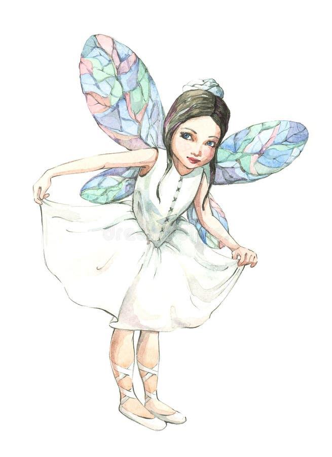 Menina-duende ilustração royalty free