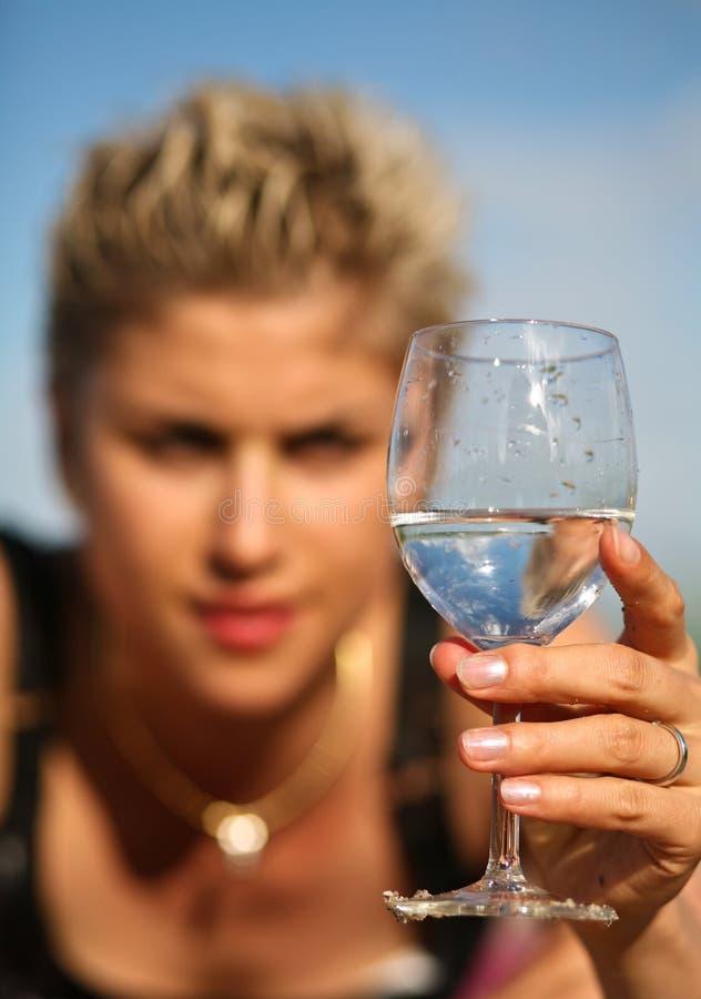 Menina e água imagens de stock royalty free