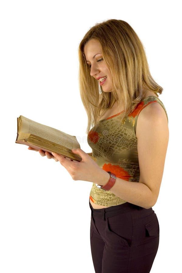 Menina e livro imagens de stock royalty free