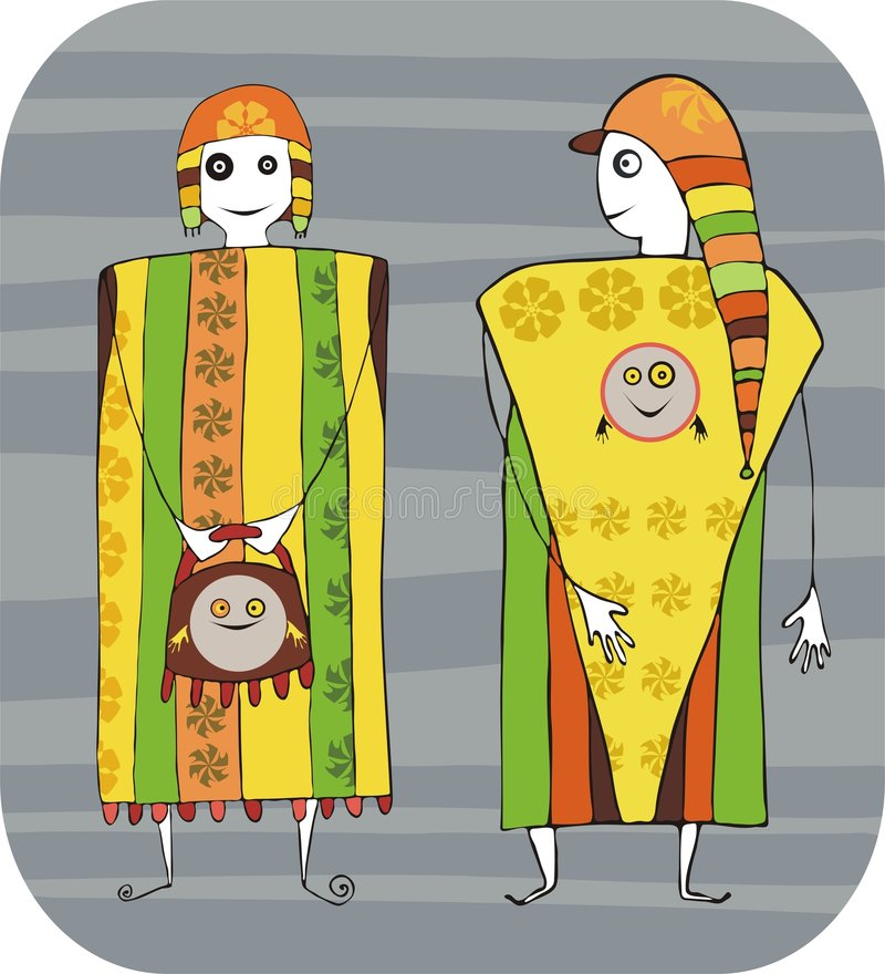 Menina e menino ilustração do vetor