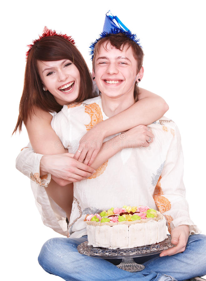 Menina e menino do adolescente dos pares. imagens de stock royalty free
