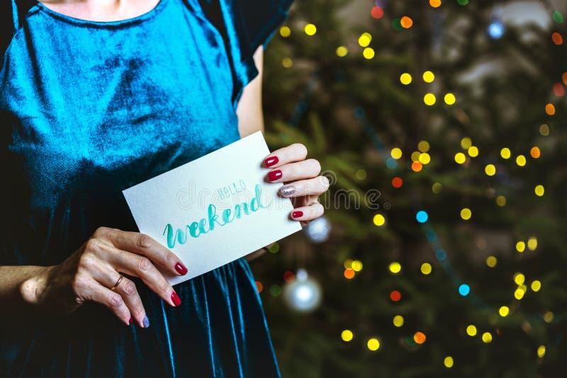 Menina e Natal foto de stock