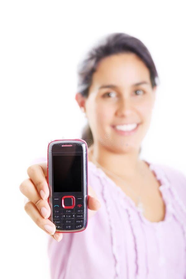 Menina e telefone imagens de stock royalty free