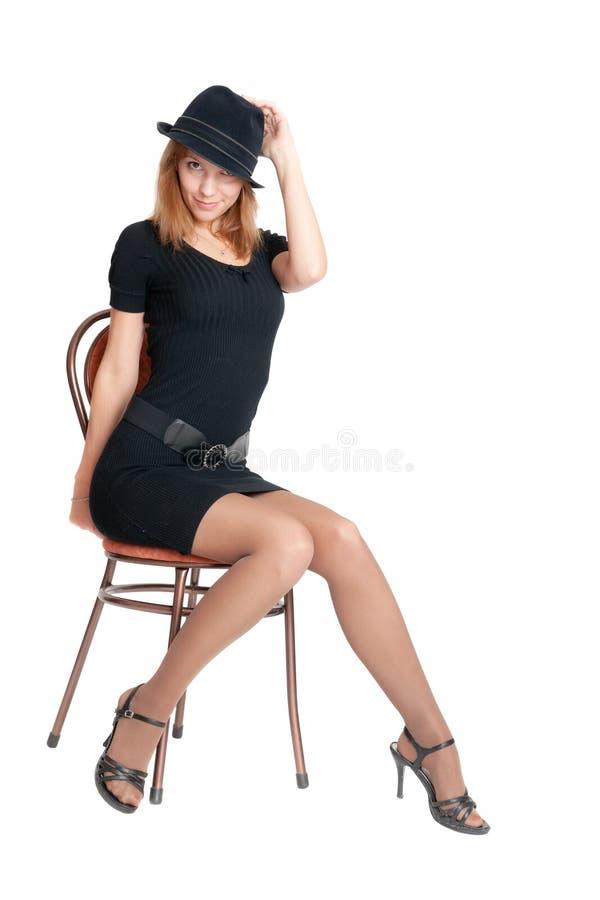 A menina elegante imagens de stock