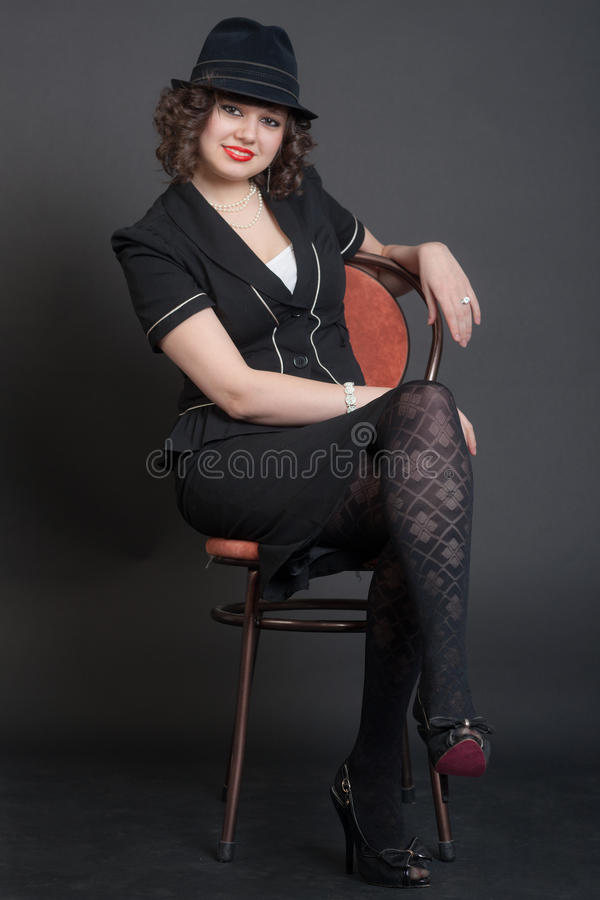 A menina elegante imagens de stock royalty free