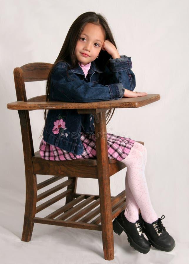 Menina elegante da escola fotos de stock royalty free