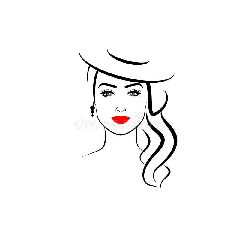Menina elegante em um chapéu fotos de stock royalty free