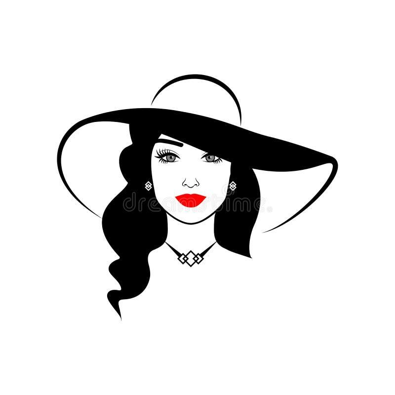Menina elegante em um chapéu fotografia de stock