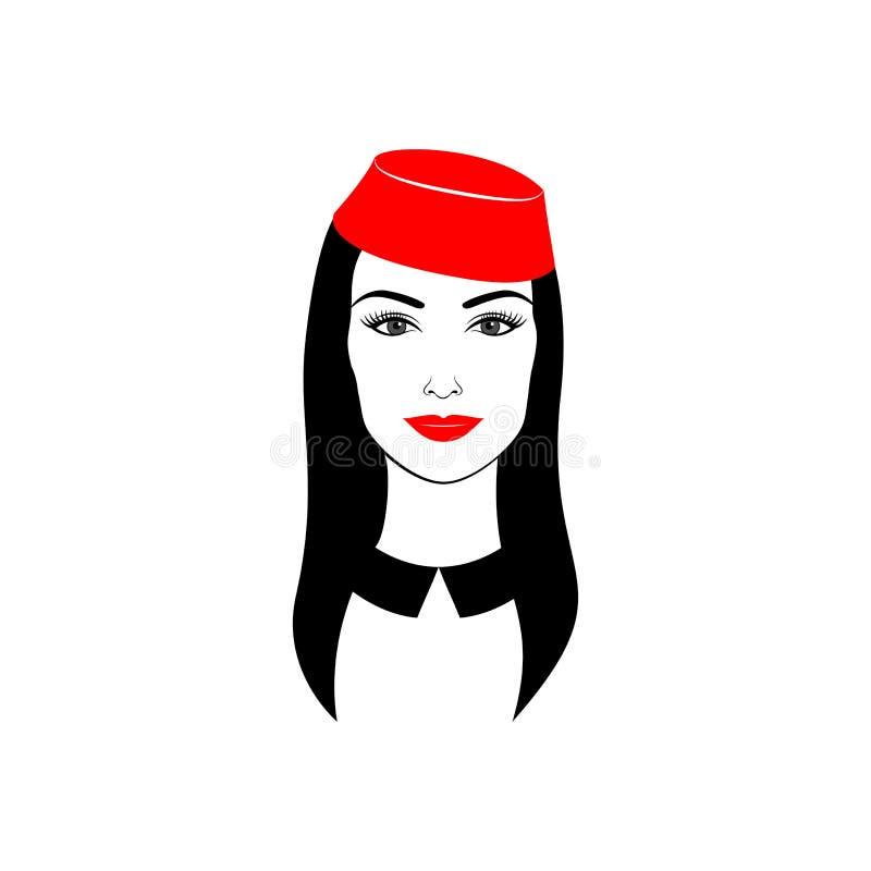 Menina elegante em um chapéu vermelho fotografia de stock