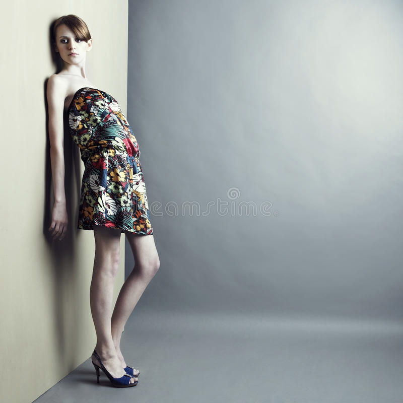 Menina elegante no vestido fotos de stock royalty free