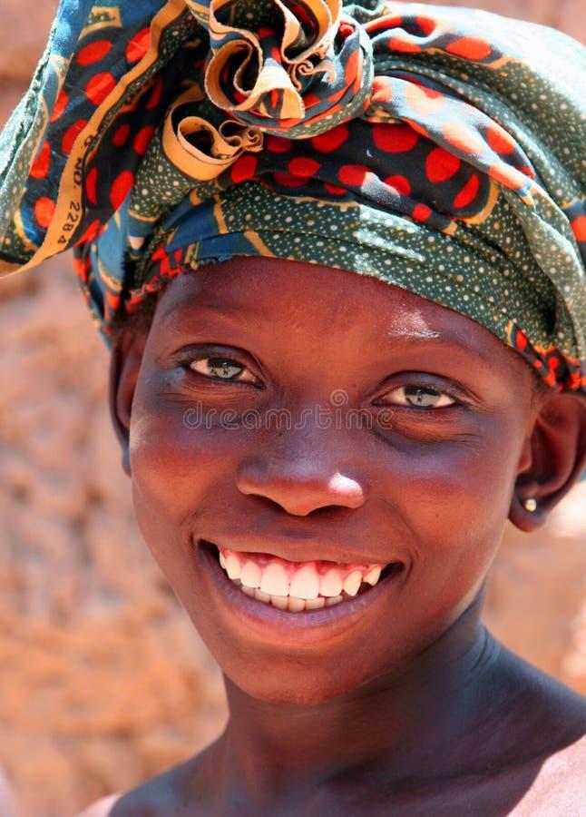 Menina em África fotos de stock
