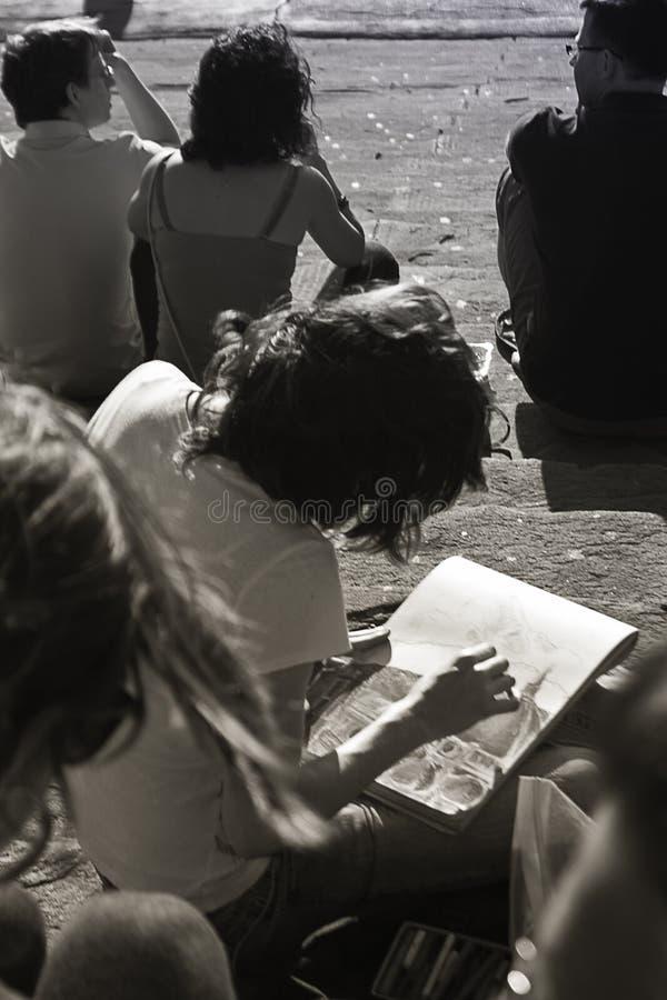 Menina em Florença fotografia de stock
