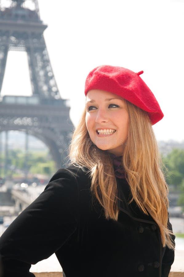Menina em Paris fotografia de stock