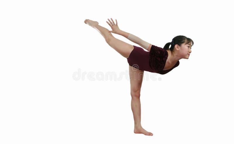 Menina em poses da ginástica fotografia de stock royalty free