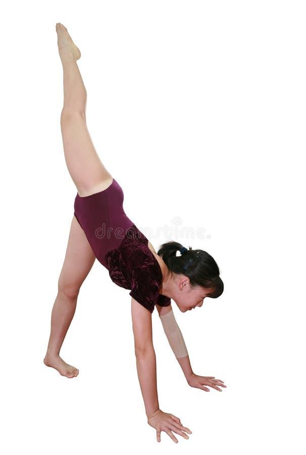 Menina em poses da ginástica fotografia de stock