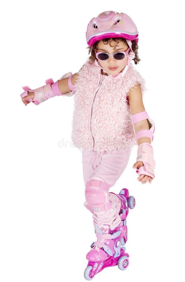 Menina em rollerskates fotos de stock