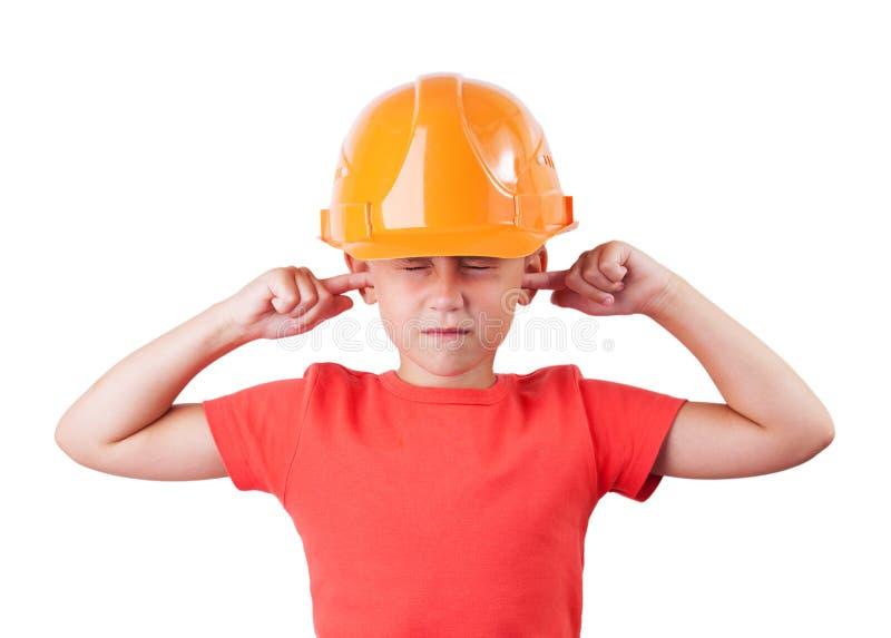 Menina em um capacete imagens de stock