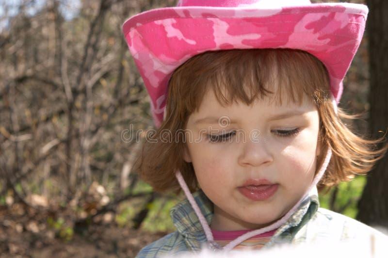 Menina em um chapéu foto de stock royalty free