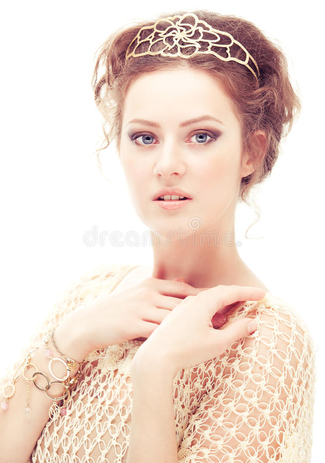 Menina em um diadem foto de stock royalty free