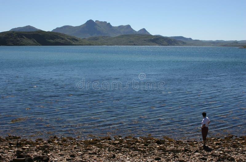 Menina Em Um Lago Fotografia de Stock