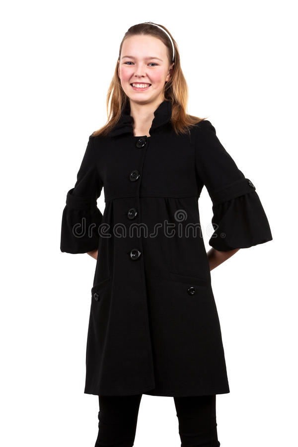 Menina em um revestimento fotografia de stock royalty free