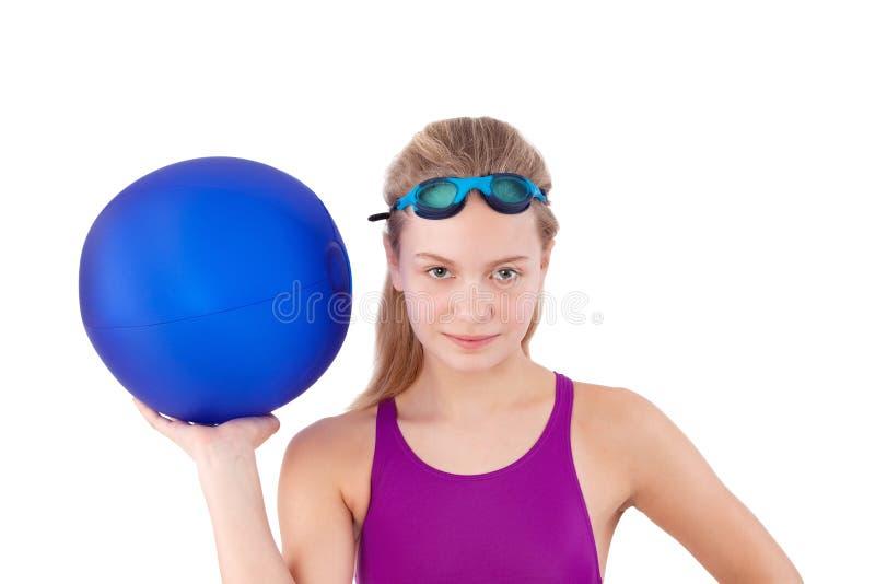 Menina em um swimsuit fotografia de stock