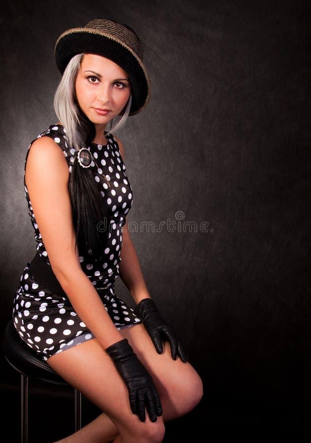 A menina em um vestido imagens de stock royalty free